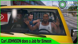 Carl Johnson/CJ Steals a Car from Michael GTA 5 Complications Mission on  Redux Mod Gameplay