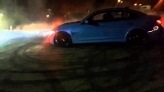 BMW M3 F30 Burnout and crazy Drift