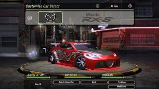 Mazda RX-8 Full (Ricer) Customization Up To 10 Star Rating - NFS  Underground 2
