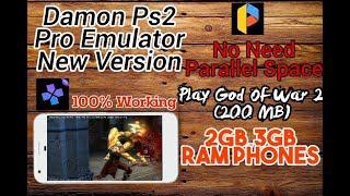 Damon Ps2 Emulator Pro Cracked Apk new Version Full Speed In All Devices +  God Of War 2 200MB Only !