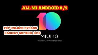 BYPASS FRP ALL MI || MIUI 10 || NO TALKBACK EASIEST METHOD EVER