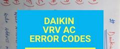Скачать Daikin air conditioner error code EO,E1,E3,E4,E5,E6