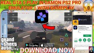 How To Download And Play Real GTA 5 In Android Mobile Using Damon PS2 Pro  Emulator || With Gameplay