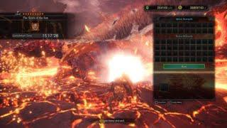 MHW / Old ver  / King Gold Exploder (long 4 gunlance) Build Test / Arch  Tempered Teostra