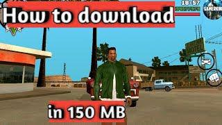 How to downlard gta sa lite only 150 MB in hindi ||By Gmer King