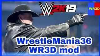 WrestleMania36 new WR3D mod game 2K19-20: 36+arenas casket Match new  textures furniture weapons limi