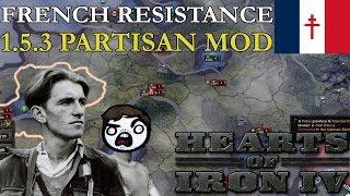 HOI4 1 5 3 Partisan Mod - The French Resistance Rises!