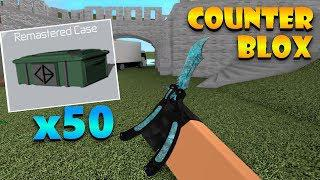 50x GLOVE CASE OPENING ON COUNTER BLOX!! | Roblox: Counter Blox
