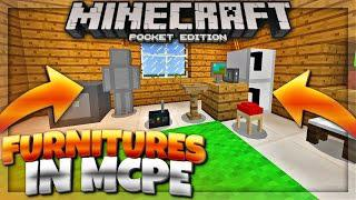 PLACE FURNITURES in MCPE 1 0 7! - Minecraft PE Furnitures Addon (Minecraft  Pocket Edition 1 1)