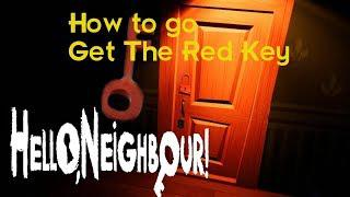 Hello Neighbor Gameplay Walkthrough Red Key Room (How to Get The Red Key  ACT3) (JUMP) No Commentary
