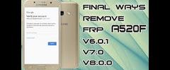Скачать A5 2017 FRP Bypass Android Oero 8 0, all security u7 2018