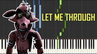 Let Me Through - FNAF song by CG5 [Piano Synthesia Tutorial]