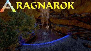 BUILDING A WATERFALL CAVE BASE! (#1) ARK: SURVIVAL EVOLVED - RAGNAROK (Ark  Modded Gameplay)