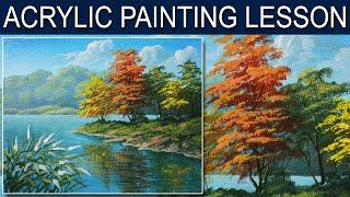 6e8f1fab5 Скачать Acrylic Landscape Painting Tutorial | Autumn in the River in Step  by Step by JM Lisondra - смотреть онлайн