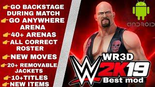 WR3D WWE 2K19 MOD | WR3D Attached Arena | New Moves | Go Anywhere Arenas |  Correct Rosters WR3D