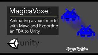 MagicaVoxel - MagicaVoxel to Maya to Unity - Animate and set up your voxel  model in Unitys Mecanim
