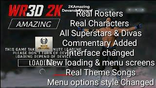 Wr3d wwe 2k18 mod, commentary added, real rosters and all real superstars  and divas added