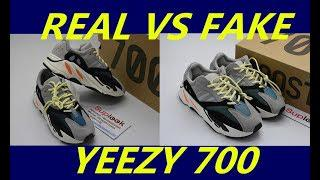 watch 1ea11 67bbd Adidas Yeezy 700 Wave Runner Real VS Fake Review