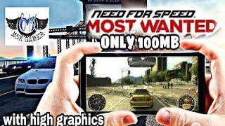Need for speed most wanted apk + obb highly compressed