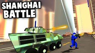 Epic SHANGHAI Bridge BATTLE! New Map and Armored Vehicles! (Ravenfield Best  Mods)
