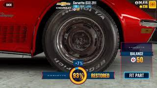 CSR2 Legends: fully restoring Chevrolet Corvette (C3) ZR1