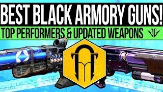 Destiny 2   The BEST Black Armory Weapons: New God Rolls, 2 Tap Monsters &  Updated Exotics!