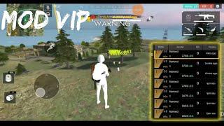Free Fire Mod VIP | One Hit Kill Hack Aim Bot NO Recoil  Less Grass No Fog   Add Damage 15% No ROOT
