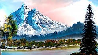 Mountains painting SPRAY PAINT ART landscape how to spray paint speed art