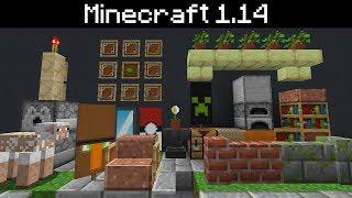 Minecraft 1 14 - Loom Block (Banner Patterns), Easy Editing of Books, New  Slabs, Stairs and Walls