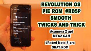 Revolution Os pie RedmiNote 5 Pro many twick and trick #good battery #gcam