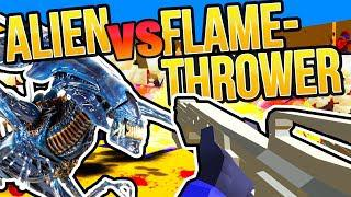 ALIENS vs FLAME THROWER RAVENFIELD CUSTOM WEAPON | M240 Gun Mod Ravenfield  Early Access Gameplay