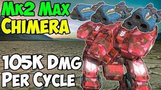 War Robots New Mk2 Chimera Fury Gameplay - Death From Above WR