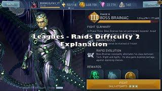 LEAGUES RAIDS DIFFICULTY 2 BOSS FIGHTS AND REWARDS Walkthrough ! Injustice  2 Mobile Update 2 0
