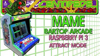 Centipede Bartop Arcade with Raspberry Pi 3 and Attract Mode