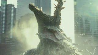 Rampage - Full Destruction The Giant Wolf George and the Giant Crocodile  Arriving Scene Hindi