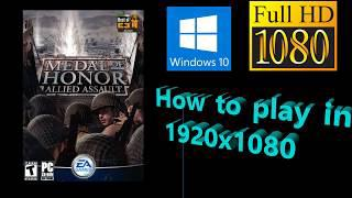 Tutorial - Medal of Honor: Allied Assault - PC - Play in 1920x1080: 1080p  (Origin, Steam)