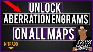 HOW TO UNLOCK ABERRATION ENGRAMS ON ALL OTHER MAPS (RAGNAROK ETC) - ARK PS4  NITRADO SERVER TUTORIAL
