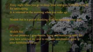 Modeh Ani - I give thanks before you
