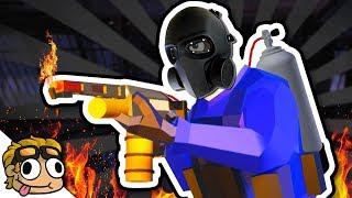 FLAMETHROWER FOR EVERYONE! 🔥 Ravenfield Custom Mod and Map Gameplay 💥