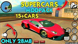 (28MB) SuperCars Mod For GTA San Andreas Android   Supercars Mod pack    Premium Cars   Cars Mod pack