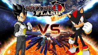 Vegeta Vs Shadow The Hedgehog | Super Smash Flash 2 (Mods)