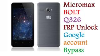 Micromax Bolt Q326 FRP Unlock | google account Bypass | without any  Software without any Tools