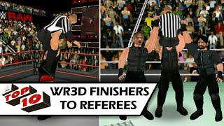 WR3D MODS | TOP 10 FINISHERS TO REFEREES | WRESTLING REVOLUTION 3D EXTREME  | WR3D TOP 10 MOMENTS