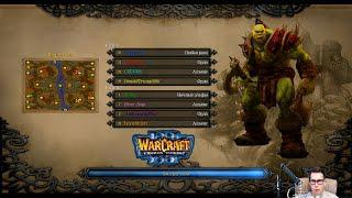 WARCRAFT 3: THE FROZEN THRONE - Играю на Офф Сервере Battle net за ОРКОВ -  4 X 4