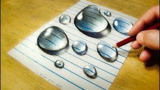 Skachat Drawing Water Drops On Line Paper How To Draw 3d Drops
