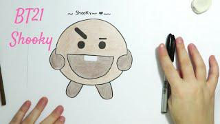 Skachat Drawing Bt21 Shooky How To Draw Easy Step By Step Drawing