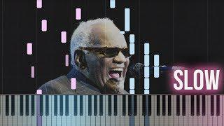 Ray Charles - Hit The Road Jack | How To Play SLOW Piano Tutorial + Sheets