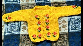 1893cd1e2 woolen sweater designs  - rose pattern sweater design - ideas for kids or  baby in hindi