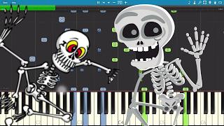 Spooky Scary Skeletons - Piano Cover / Tutorial