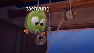 Bts as angry birds blues